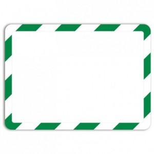 Pochette magneto blanc et vert A4 (lot de 2)
