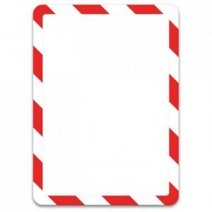 Pochette magneto rouge et blanc A4 (lot de 2)