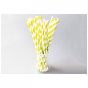 Yellow twisted straws (96 pcs)