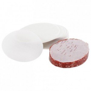 Papier à steak haché rond (lot de 1000)