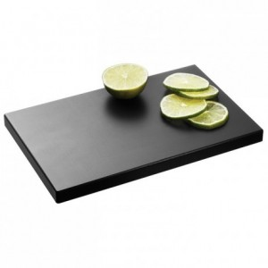 Chopping board PEHD 500 black 250 x 160 mm