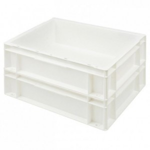 Europe solid stackable container white 400 x 300 mm 6,4 L