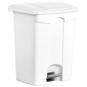 Trash bin with pedal-operated lid 70 L