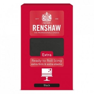 Renshaw Rolled Fondant EXTRA 1 kg -Black-