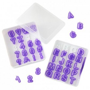 Découpoirs Wilton alphabet et nombres 41 pièces