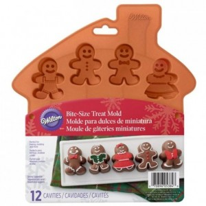 Wilton Silicone Mold Bite-Size Gingerbread
