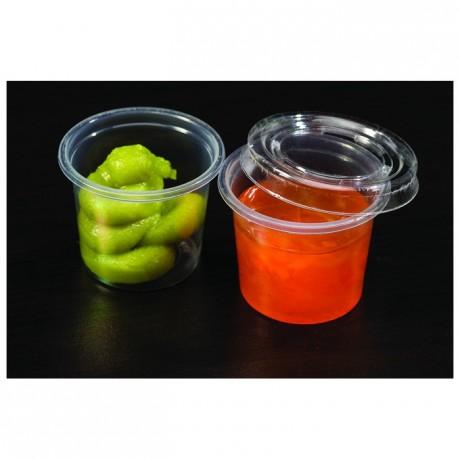 Couvercle translucide pour pot portion 10,5 cL et 13 cL (lot de 2500)
