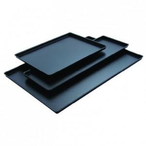 Plat aspect fonte noire ABS 600 x 400 mm