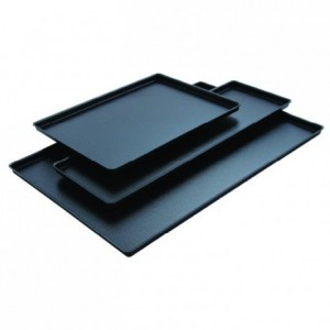 Black cast iron look tray  400 x 300 mm