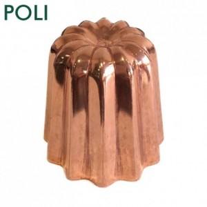 Moule à cannelés en cuivre étamé poli Ø 45 mm
