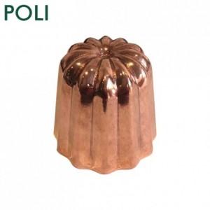 Moule à cannelés en cuivre étamé poli Ø 35 mm