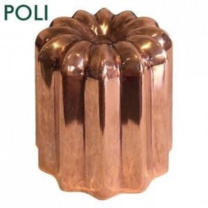 Moule à cannelés en cuivre étamé poli Ø 55 mm