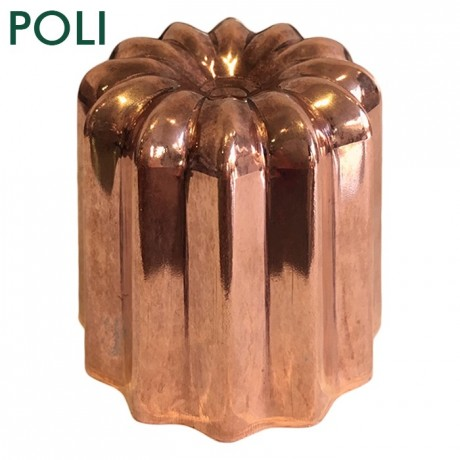 Mould for cannelés polished copper Ø 55 mm