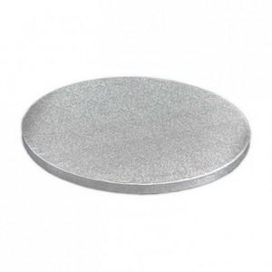 Semelle épaisse à gâteau PastKolor argentée ronde Ø20 cm