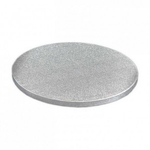PastKolor cake drum silver round Ø40 cm