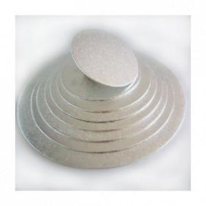 Semelle fine à gâteau PastKolor argentée ronde Ø25 cm