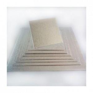 PastKolor cake board silver square 25x25 cm