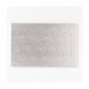 PastKolor cake board silver rectangle 30x25 cm