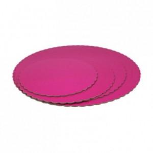 Semelle fine à gâteau PastKolor rose ronde Ø30 cm