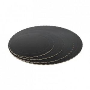 Semelle fine à gâteau PastKolor noire ronde Ø20 cm