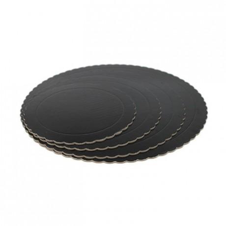 PastKolor cake board black round Ø25 cm