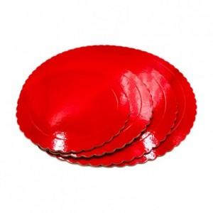 Semelle fine à gâteau PastKolor rouge ronde Ø35 cm