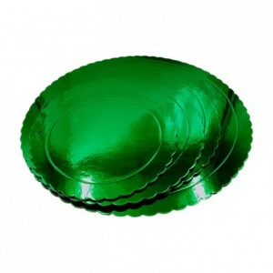Semelle fine à gâteau PastKolor verte ronde Ø20 cm