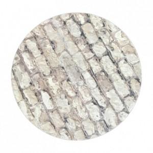 Semelle fine à gâteau PastKolor décors pierre ronde Ø35 cm