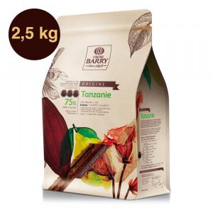 Tanzanie 75% Origine Rare chocolat noir de couverture pistoles 2,5 kg