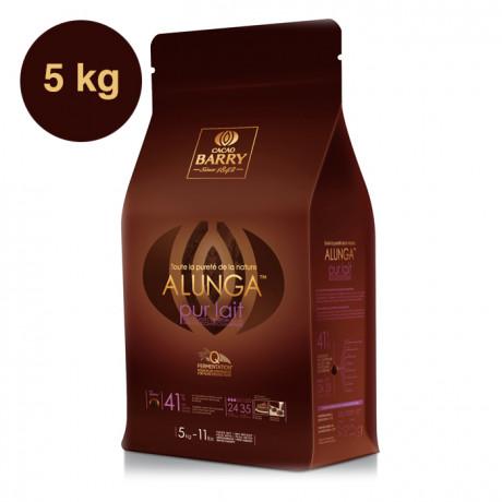 Alunga 41% Q-Fermentation chocolat lait de couverture pistoles 5 kg
