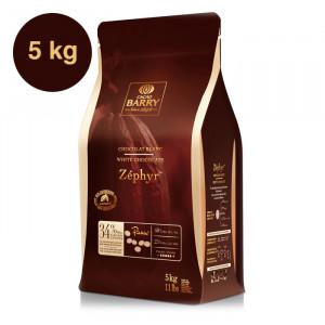 Zéphyr 34% chocolat blanc de couverture pistoles 5 kg