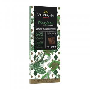 Manjari 64% chocolat noir pur Madagascar tablette 70 g