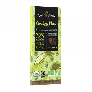 Andoa Noire 70% chocolat noir bio tablette 70 g