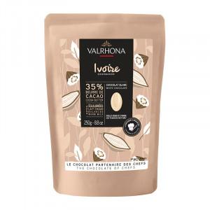Ivoire 35% chocolat blanc de couverture fèves 250 g