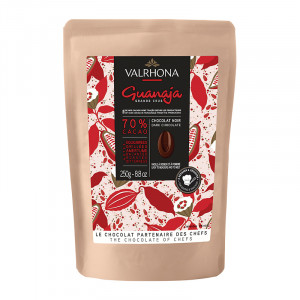 Guanaja 70% chocolat noir de couverture fèves 250 g