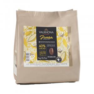 Jivara 40% chocolat au lait de couverture Mariage de Grands Crus fèves 1 kg