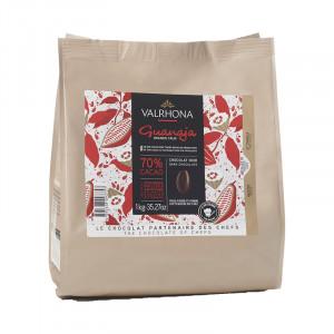 Guanaja 70% chocolat noir de couverture Mariage de Grands Crus fèves 1 kg