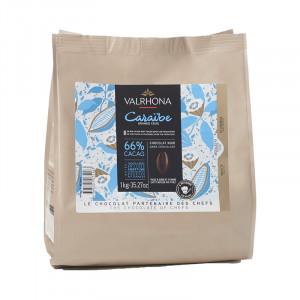 Caraïbe 66% chocolat noir de couverture Mariage de Grands Crus fèves 1 kg
