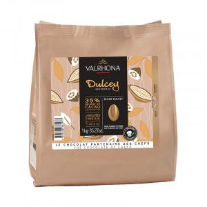 Dulcey 32% chocolat blond de couverture fèves 1 kg