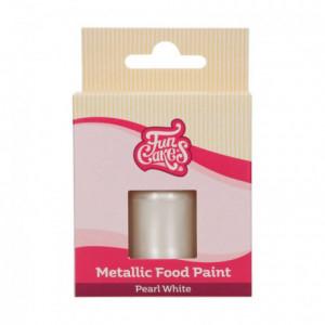 Peinture alimentaire FunCakes Pearl White 30 mL