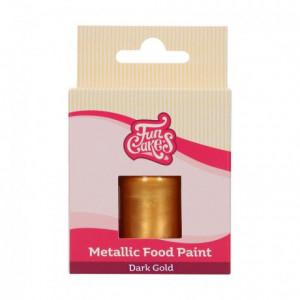Peinture alimentaire FunCakes Dark Gold 30 mL
