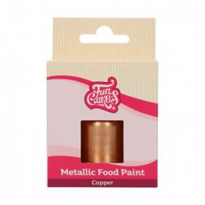 Peinture alimentaire FunCakes Copper 30 mL