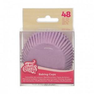 Caissettes à cupcakes FunCakes lilas 48 pièces