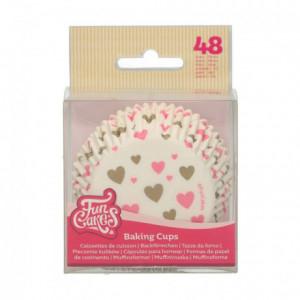 Caissettes à cupcakes FunCakes coeurs 48 pièces