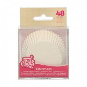 Caissettes à cupcakes FunCakes blanc 48 pièces