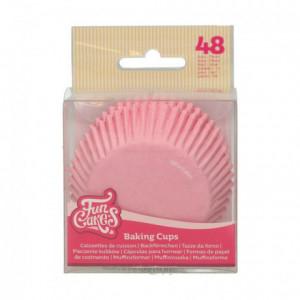 Caissettes à cupcakes FunCakes rose clair 48 pièces