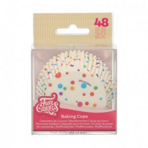 Caissettes à cupcakes FunCakes confettis 48 pièces