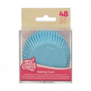 Caissettes à cupcakes FunCakes bleu clair 48 pièces