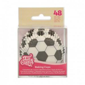 Caissettes à cupcakes FunCakes football 48 pièces