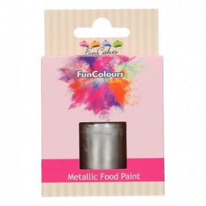 Peinture alimentaire FunCakes Dark Silver 30 mL